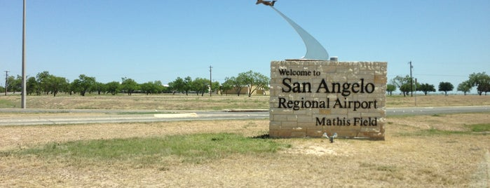 San Angelo Mathis Field (SJT) is one of Airports.