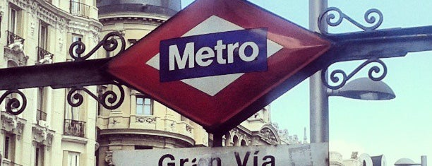 Metro Gran Vía is one of Transporte Madrid.