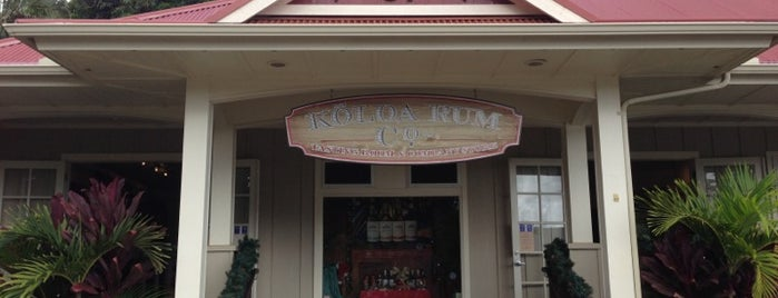 Kōloa Rum Company is one of Kauai.