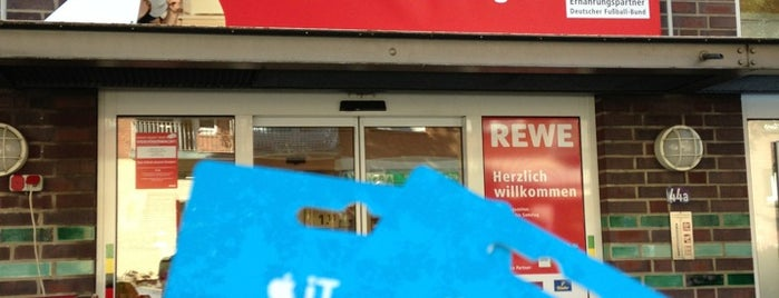 REWE is one of Orte, die Joy 🍀 gefallen.