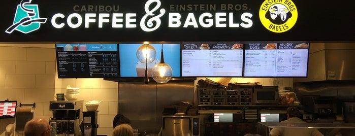 Caribou Coffee & Einstein Bros Bagels is one of Tempat yang Disukai Mike.