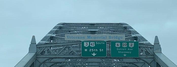 Veterans Memorial Bridge is one of CLE.