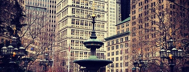 City Hall Park is one of New York.