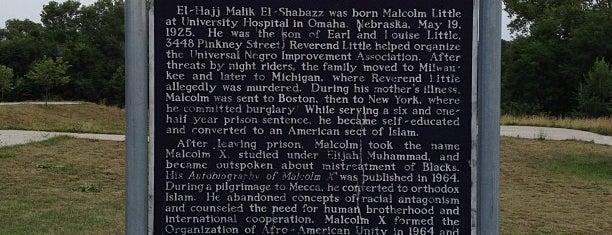 Malcolm X  Birthsite is one of Omaha, NE.