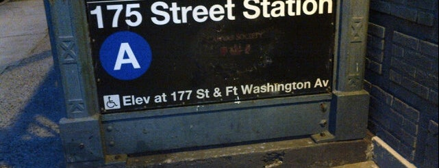 MTA Subway - 175th St (A) is one of Tempat yang Disukai Shawntini.