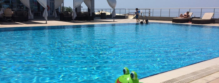 Open air swimming pool at Renaissance Aktau is one of Vladilen's Liked Places.