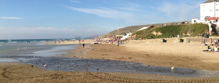Perranporth Beach is one of South West UK.
