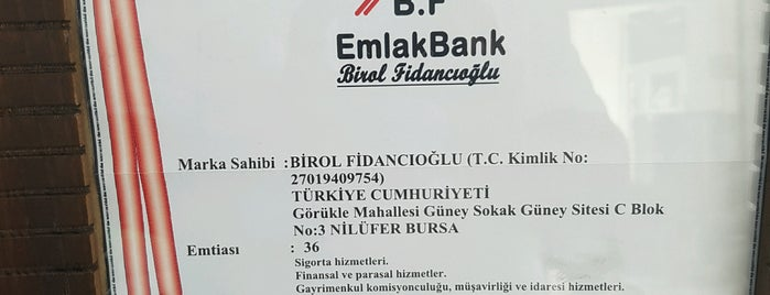 B F Emlak Bank. Birol Fidancioglu is one of Lieux qui ont plu à Murat karacim.