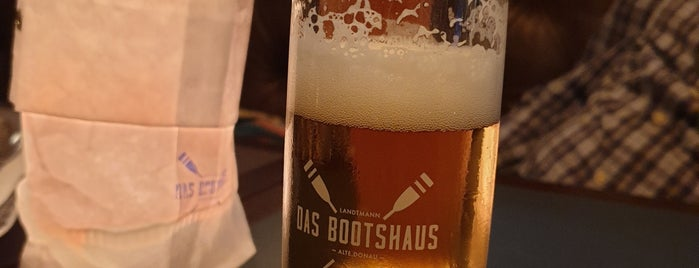 Das Bootshaus – Café Landtmann Alte Donau is one of Dinner.