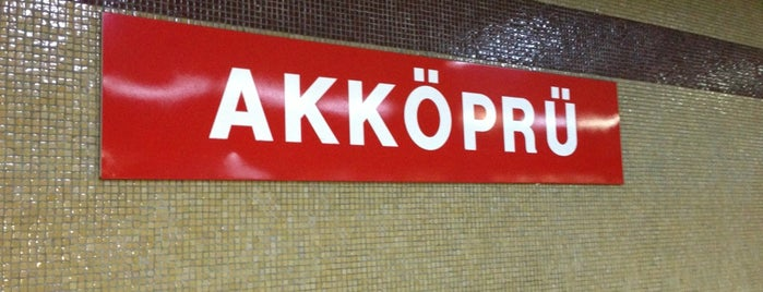 Akköprü Metro İstasyonu (M1) is one of my love Ankara.