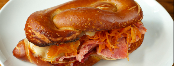 Sigmund Pretzel Shop is one of Food Places to Try in NYC.