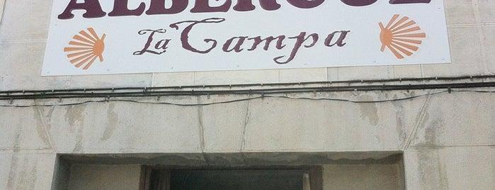 Albergue La Campa is one of Les chemins de Compostelle.
