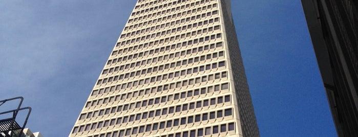 Transamerica Pyramid is one of San Francisco Bay.