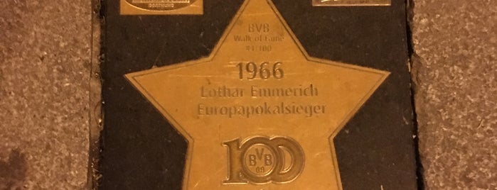 BVB Walk of Fame #41 1966 Lothar Emmerich Europapokalsieger is one of BVB Walk of Fame.