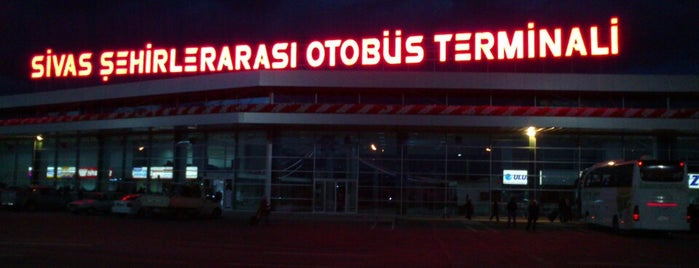 Sivas Şehirler Arası Otobüs Terminali is one of Check-in 4.