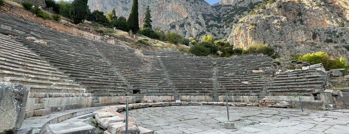 Ancient theatre of Delphi is one of Grécia.