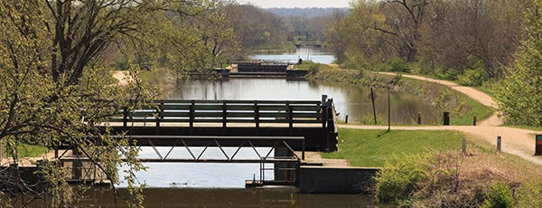 Hennepin Canal State Trail is one of Illinois State Parks.