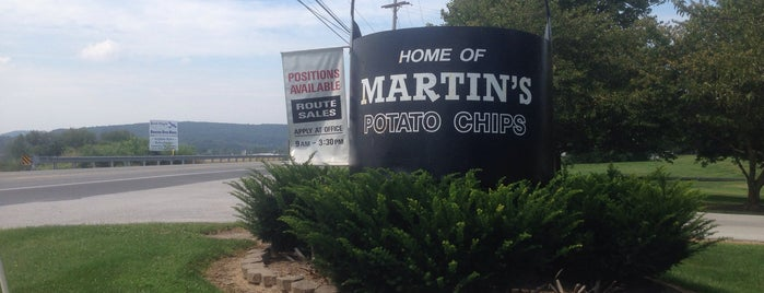Martin's Potato Chips is one of Factory Tours.