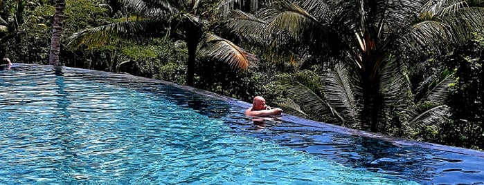 Swimming Pool @ Padma Resort Ubud is one of Lugares favoritos de Nate.
