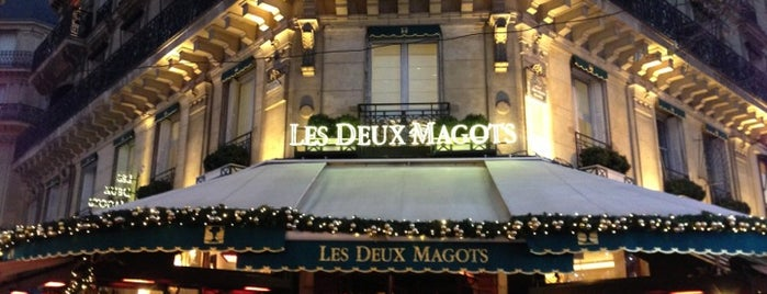 Les Deux Magots is one of Paris je t'aime.