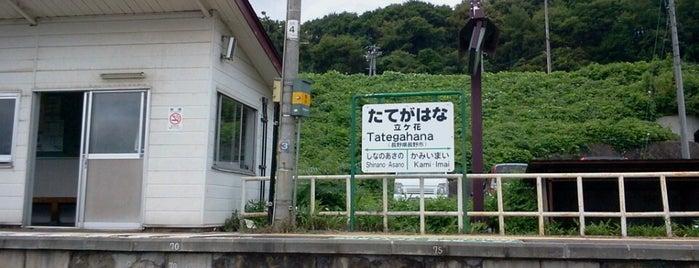 立ヶ花駅 is one of JR 고신에쓰지방역 (JR 甲信越地方の駅).