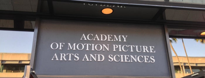 Academy of Motion Picture Arts and Sciences is one of Things to Do.