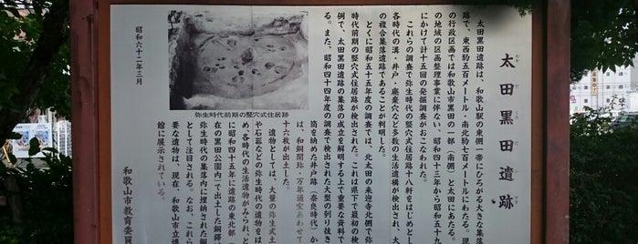 太田黒田遺跡 is one of 和歌山.