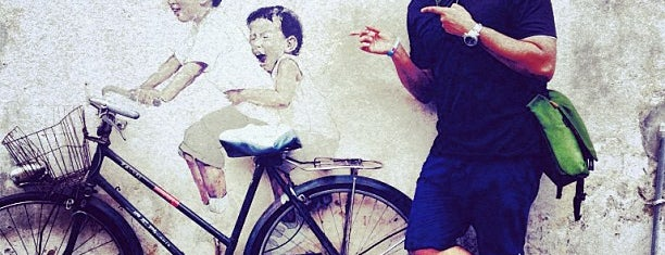 Penang Street Art : Kids on Bicycle is one of Penang.