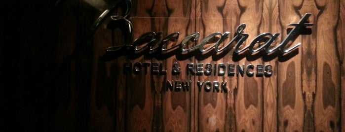 Baccarat Hotel is one of Manhattan.