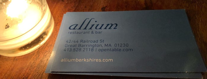 Allium Restaurant + Bar is one of Lugares guardados de Mary.