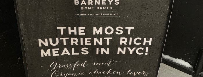 Barneys Bone Broth is one of NYC.
