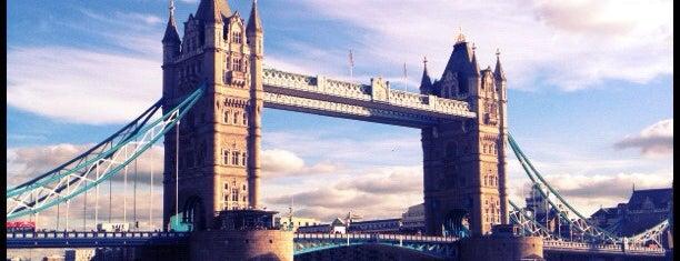 Tower Bridge is one of London, Greater London UK.