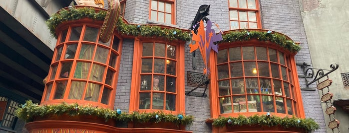Weasleys' Wizard Wheezes is one of Lieux qui ont plu à Alan.