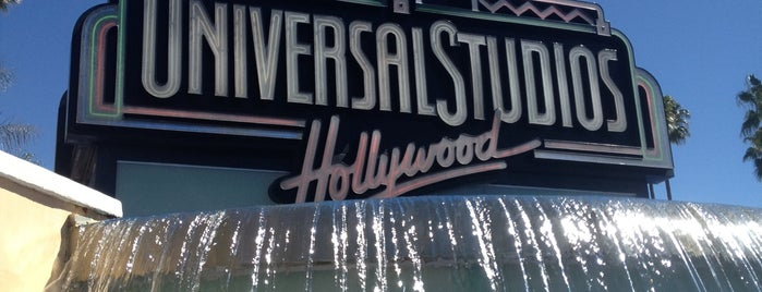 Universal Studios Hollywood Globe and Fountain is one of Theme Parks!.