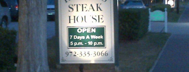 Randy's Steakhouse is one of Dallas Suburbs.