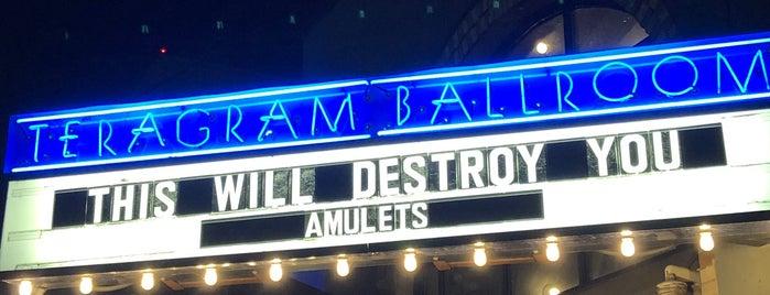 The Teragram Ballroom is one of Los Angeles.