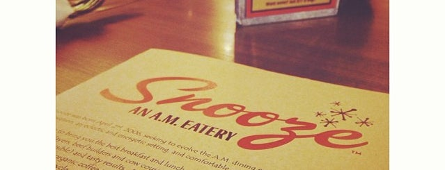 Snooze, an A.M. Eatery is one of Food & Drink.