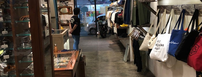 Deus Ex Machina motorcycle and surf shop is one of Bali.