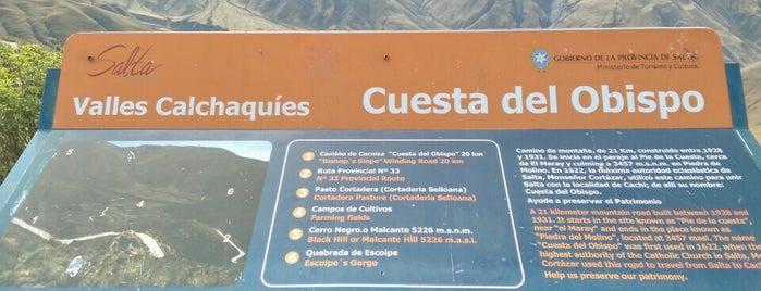 Cuesta del obispo is one of Аргентина.