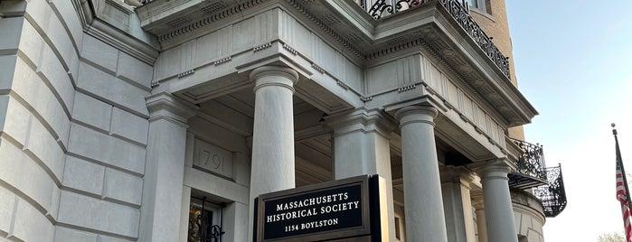 Massachusetts Historical Society is one of Boston, MA.