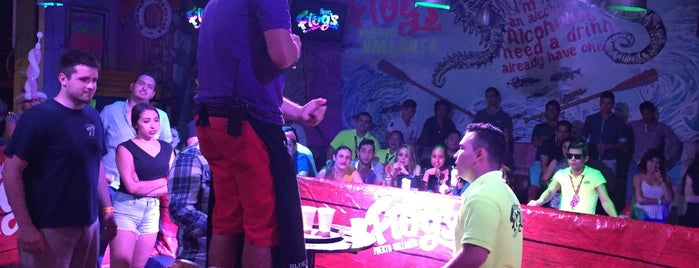 Señor Frogs is one of antros es Vallarta.