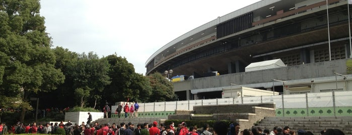 National Olympic Stadium is one of サッカー.