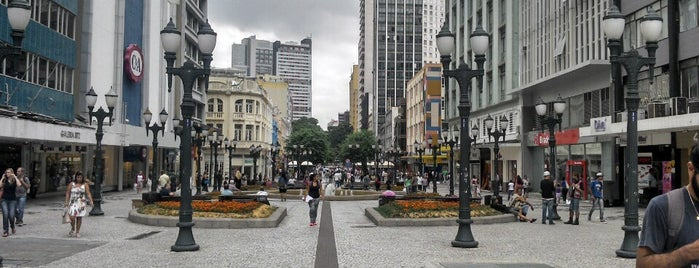Rua XV de Novembro is one of Top 10 favorites places in Curitiba, Brasil.