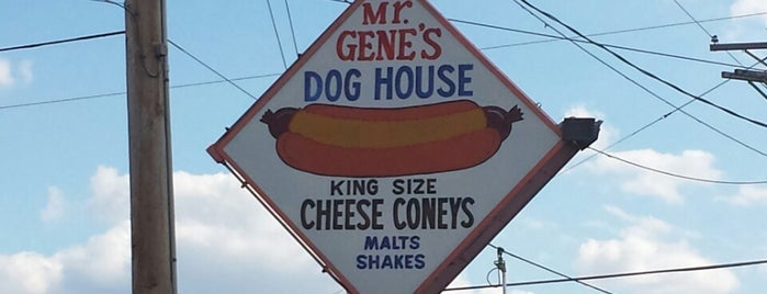 Mr. Gene's Dog House is one of School.