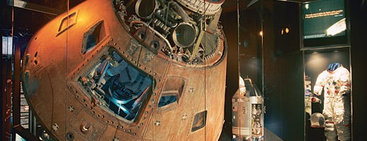 Kansas Cosmosphere and Space Center is one of From the Earth to the Moon, Apollo CSM's.