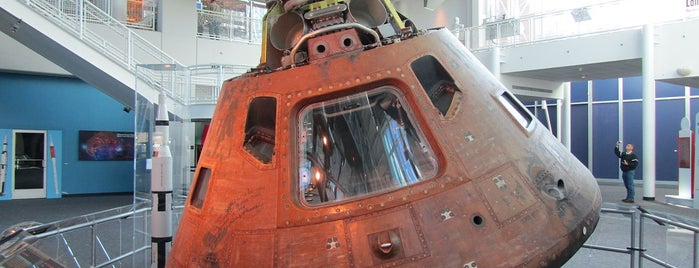 Virginia Air & Space Center is one of From the Earth to the Moon, Apollo CSM's.