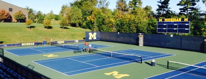 University of Michigan Varsity Tennis Center is one of Sports Venues Visited.