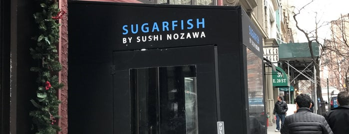 Sugarfish is one of NYC eats.