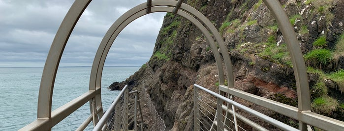 The Gobbins Path is one of Northern Ireland + Ireland.