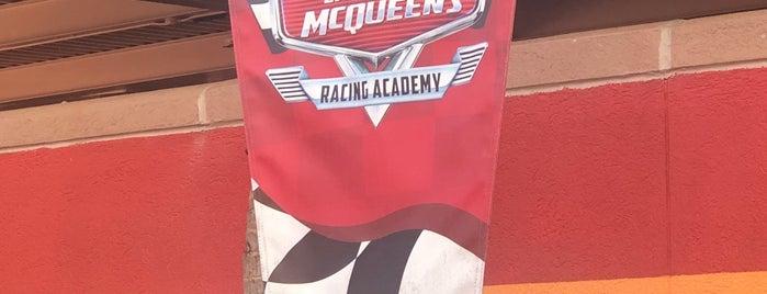 Lightning McQueen's Racing Academy is one of Hollywood Studios.